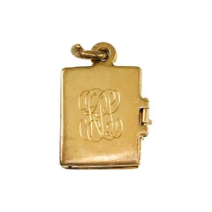 14 Karat Hinged Mini Booklet Pendant