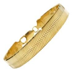 14 Karat Italian Herringbone Bracelet