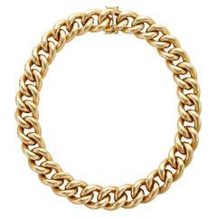 14 Karat Italian Yellow Gold Curb Link Necklace