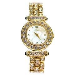 14 Karat Ladies Vintage Allegro Diamond Watch