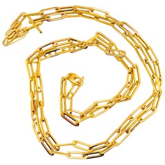 14 Karat Medium Paper Clip Chain