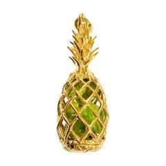 14 Karat Peridot Pineapple Pendant
