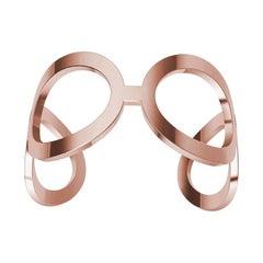 14 Karat Pink Gold Oval Cuff Bracelet