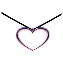 14 Karat Pink Gold Tapered Open Heart