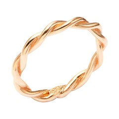 Twists - Twisted Band in 14 Karat Pink Gold