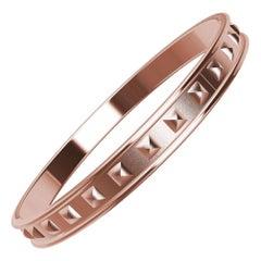 14 Karat Pink Matte Gold Soft Pyramids Bracelet