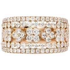 14 Karat Rose Gold 1.25 Carat Diamond Cigar Band