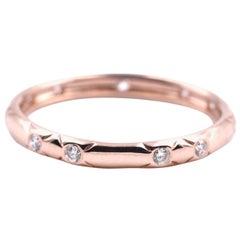 14 Karat Rose Gold .16 Carat Diamond Band