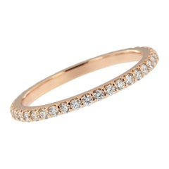 14 Karat Rose Gold and Diamond Eternity Ring