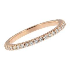 14 Karat Rose Gold and Diamond Eternity Ring