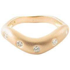 14 Karat Rose Gold and Diamond Ring