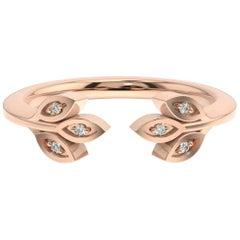 14 Karat Rose Gold Aster Floral Diamond Ring '1/20 Carat'