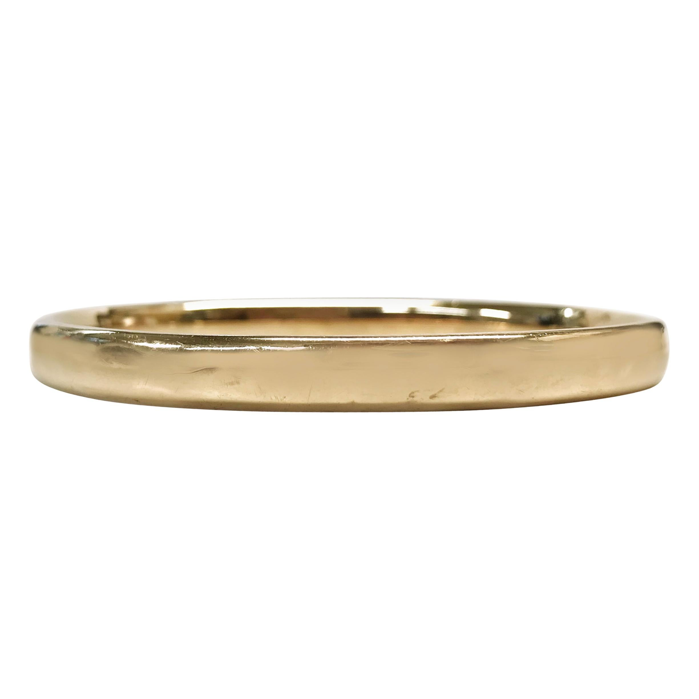 14 Karat Rose Gold Bangle Bracelet