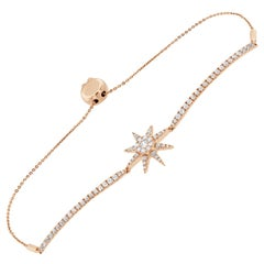 14 Karat Rose Gold Bolo Diamond Bracelet '1 Carat'