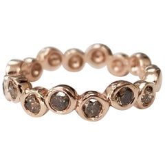"14 Karat Rose Gold ""Bubble"" Stackable Diamond Ring"