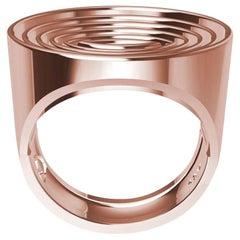 14 Karat Rose Gold Concave Ovals Ring