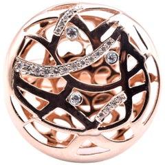 14 Karat Rose Gold Custom Diamond Fashion Ring