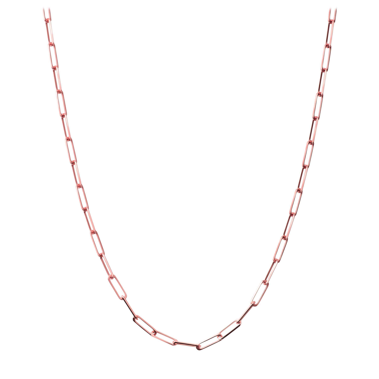 14 Karat Rose Gold Dainty Chain Necklace