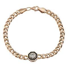 14 Karat Rose Gold, Diamond Bella Bracelet