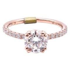 14 Karat Rose Gold Diamond Engagement Ring