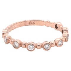 14 Karat Rose Gold Diamond Stackable Anniversary Ring