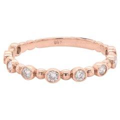 14 Karat Rose Gold Diamond Stackable Anniversary Ring