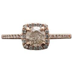14 Karat Rose Gold Diamonds Ring