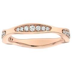 14 Karat Rose Gold Donna Marquise Shape Diamond Ring '1/4 Carat'