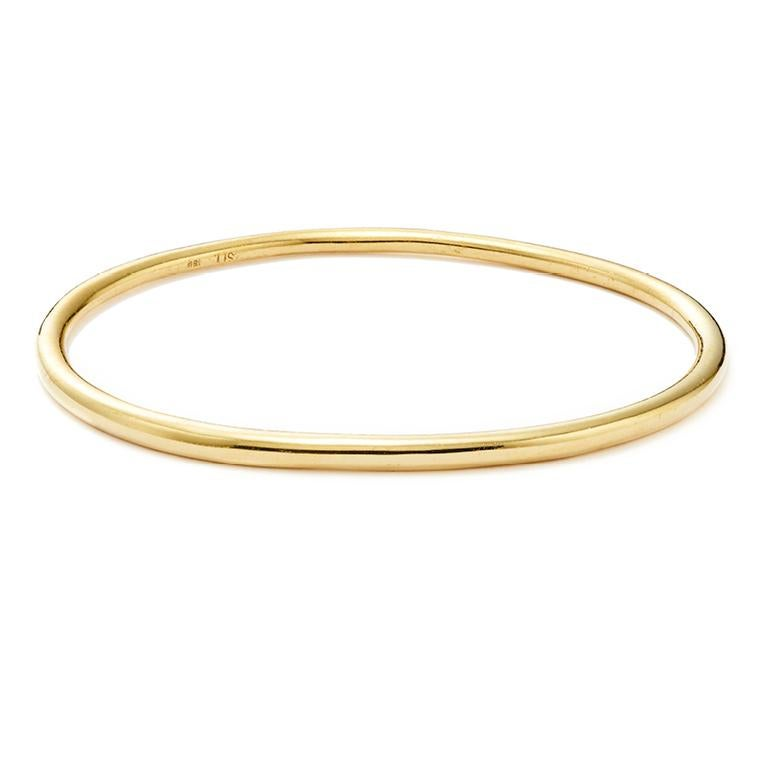 14 Karat Rose Gold Elliptical Bangle In New Condition For Sale In Nantucket, MA