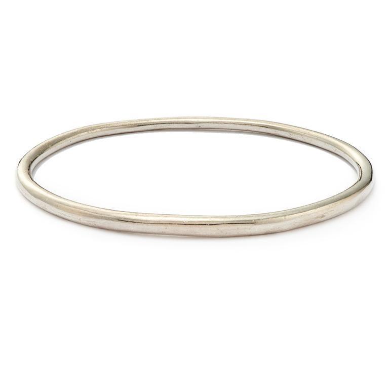 14 Karat Rose Gold Elliptical Bangle For Sale 1