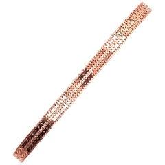 14 Karat Rose Gold Fancy Link Bracelet, Italian