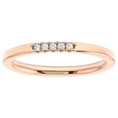14 Karat Rose Gold Gina Petite Stackable Diamond Ring '1/20 Carat'