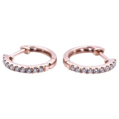 14 Karat Rose Gold Huggie Earrings