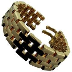 """14 Karat Rose Gold """"Retro"""" Link Bracelet"""