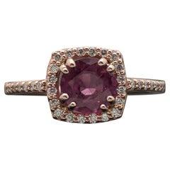 14 Karat Rose Gold Ruby and Diamonds Ring