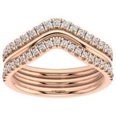 14 Karat Rose Gold Shila Petite Stackable Diamond Ring '2/5 Carat'