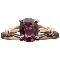 14 Karat Rose Gold Spinel Ring