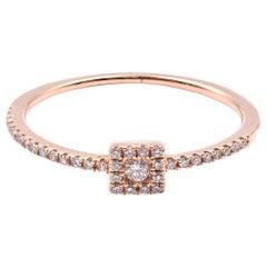 14 Karat Rose Gold Stackable Diamond Fashion Ring