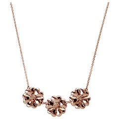 24 Karat Rose Gold Vermeil 123 Small Blossom Necklace