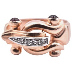 14 Karat Rose Gold Vintage Diamond Ring