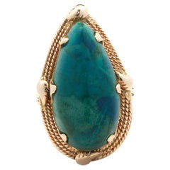 14 Karat Rose Gold Vintage Turquoise Ring
