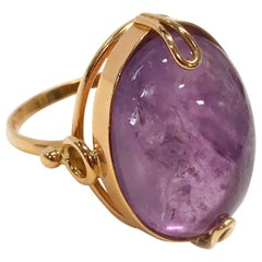 14 Karat Russian Rose Gold Amethyst Ring