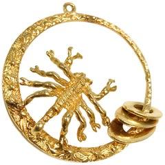 14 Karat Scorpion Pendant
