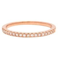 14 Karat Solid Rose Gold Diamond Wedding Band Ring