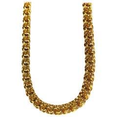 14 Karat Solid Yellow Gold Chain Necklace Handmade Men Women