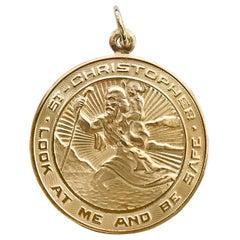 14 Karat St. Christopher Medallion Pendant