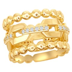 14 Karat Stackable Yellow Gold Rings