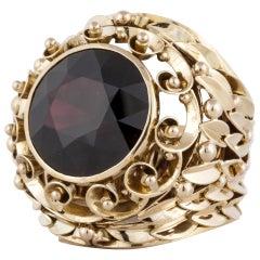 14 Karat Statement Garnet Ring