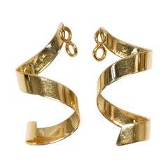 14 Karat Swirl Earring Jackets