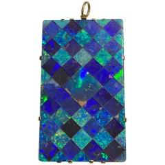 14 Karat Tessellated Opal Pendant